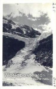 Canada Jasper Park Angel Glacier Real Photo