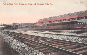 Gary Indiana~Closeup of Railroad Tracks Passing American Bridge Company c1910