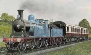 Caledonian Railway 4-2-2 No 123 Scottish Train Postcard