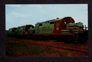 Apache Railway Railroad Train Locomotives Alco DL 700 800 & 900 Postcard RR PC