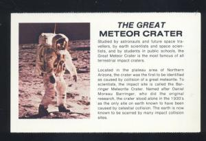 ROUTE 66 NORTHERN ARIZONA GREAT METEOR CRATER VINTAGE POSTCARD