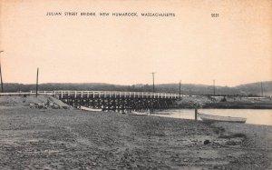 Julian St. Bridge, New Humarock, Massachusetts, Early Postcard, Unused