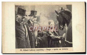 Image M Albert Lebrun Dago looks after his horse win
