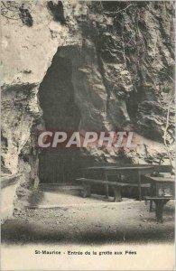 Postcard Old St Maurice Entree de la Grotte aux Fees
