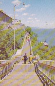 Canada Gouverneurs Walkway Along Cap Diamant Quebec