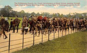 Hyde Park London~Coldstream Guards~Infantrymen to Paddington~WWI Front~Underwood