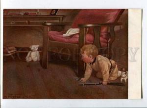 258281 Boy TEDDY BEAR Hunt Mary Sigsbee KER Russian Richard PC