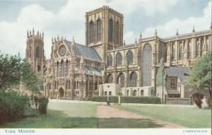 England York Minster postcard