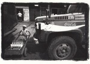 Nicaragua American Coca Cola Van & Boy Loading Bottles Award Postcard