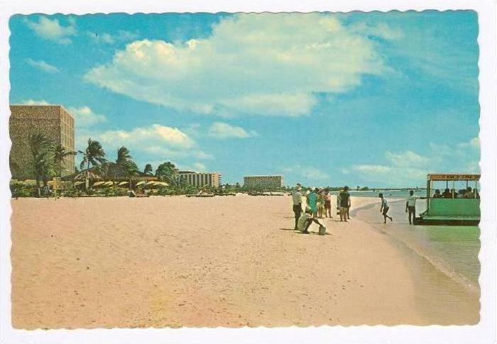 Beach, Holiday Inn, Aruba, 50-60s