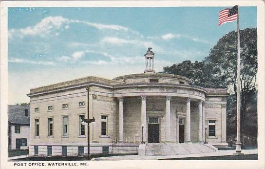 Maine Waterville Post Office 1918