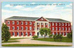 Denton Texas~Texas State College for Women~Auditorium & Music Hall~1940s
