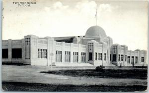 Taft, California Postcard TAFT HIGH SCHOOL Building - Pub. By Rands Bros. c1910s