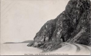 Mink Tunnel Lake Superior Ontario ON Canadian Pacific Railway CPR Postcard D45
