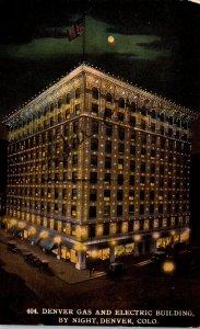 Colorado Denver Gas & Electric Building By Night 1912