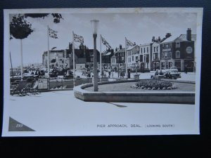 Kent DEAL Pier Approach Looking South & PIER HOTEL - Old RP Postcard by A.H.& S.