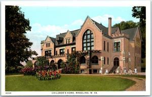 Wheeling, West Virginia Postcard CHILDREN'S HOME Orphanage Mansion  c1910s