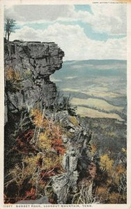 LP04   Lookout Mountain Tennessee Postcard Sunset Rock Detroit Publishing