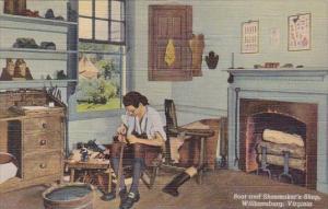 Virginia Wiliamburg Boot And Shoemakers Shop 1950