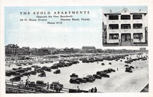 Florida Fl Postcard c1930-40s DAYTONA BEACH Szold Apartments SZOLD 2View