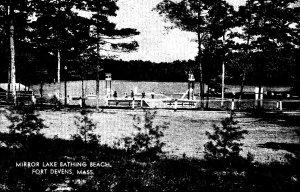 Military Mirror Lake Bathing Beach Fort Devens Ayer Massachusetts