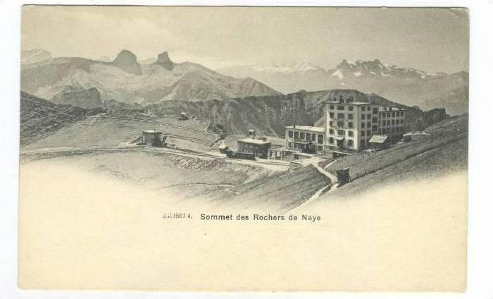 Sommet des Rochers de Naye (Vaud), Switzerland, 1900-1910s