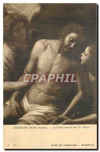 Old Postcard Ameright Michel Angiolo Christ supported by angels Marseille Lon...