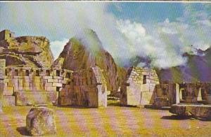 Peru Cuzco Machupicchu Sacred Plaza &amp  Temple Of 3 Windows