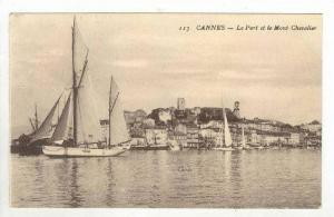 Le Port Et Le Mont Chevalier, Cannes (Alpes Maritimes), France, 1900-1910s