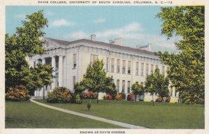 COLUMBIA, South Carolina , 1910-30s; Davis College (Davis Greens), University...