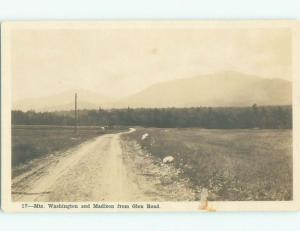 old rppc NICE VIEW Mount Washington - White Mountains New Hampshire NH i6377