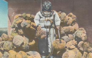TARPON SPRINGS , Florida, 30-40s , Hard Hat Sponge Diver
