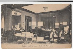 France; Paris, Lycee St Louis, Headmaster's Room PPC Tourte & Petitin, Unposted