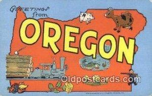 Oregon, USA Large Letter Town Unused