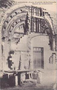 France Avignon Porte d'entree de la Chapelle Haute du Consistoire
