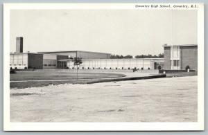 Coventry Rhode Island~Coventry High School~1950s B&W Glossy Postcard