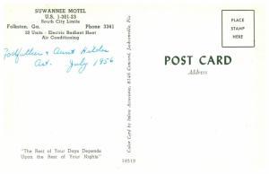 Georgia  Folkston , Suwannee Motel