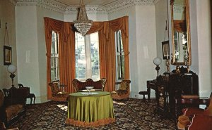 Vintage Postcard Hillforest Mansion Family Sitting Room Victorian Aurora IND