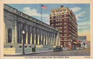 Massachusetts New Bedford Post Office And New Bedford Hotel 1951