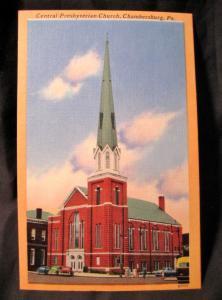 1930-45 Chambersburg PA Central Presbyterian Church General Lee Gettysburg Linen