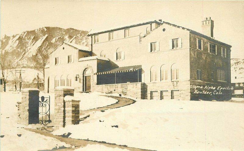 Boulder Colorado Fraternal Sigma Alpha Epsilon 1915 RPPC Photo Postcard 20-2852