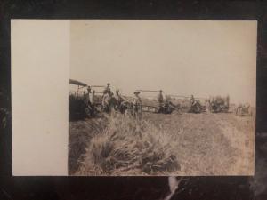 Mint Usa RPPC Real Picture Postcard Farm Scene