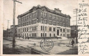 High School, Atlantic City, New Jersey, Early Postcard, Used in 1906