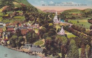France Lourdes Vue panoramique sur le Calvaire