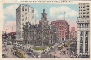 DETROIT , Michigan , 1927 ; City Hall & First National Bank