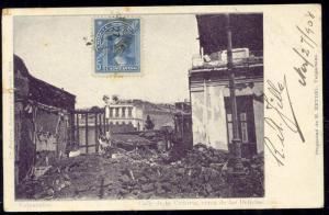 chile, VALPARAISO, Calle Victoria Delicias Terremoto (1907)