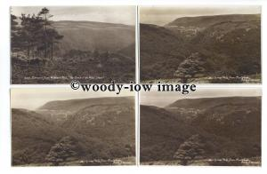 tb1619 - Devon - Horner Vale x 3, and Exmoor from Webber's Post - 4 postcards