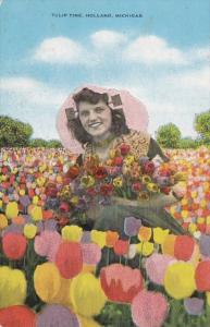 Michigan Holland Tulip Time Beautiful Girl 1954