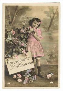 RP: Girl & Roses,  Souvenir affectueux , PU-1909