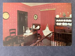 Dining Room Abraham Lincoln's Home Springfield IL Chrome Postcard H1164090653